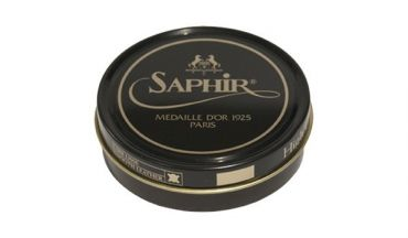 Saphir brown cream colored wax to shine shoes, Saphir wax care shoes, brown wax, best quality creams for mens shoes