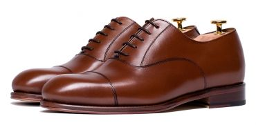 Cognac brown Oxford, wearable shoes, shoes for all the seasons of the year, suit shoes, hazelnut shoes, brown oxfords