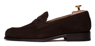 Penny loafer, suede shoes, dark brown shoe, loafer, shoe mask, comfortable shoes, day