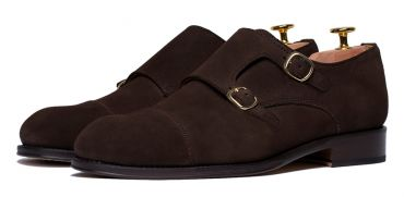 Monkstrap shoes for men, dark monkstraps, dark shoes for men, suede shoes, classic shoes, essential shoes in the closet of a gentleman, elegant shoes, perfect shoes for any men