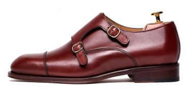 Monkstrap shoes for men, wine shoes, versatile shoes, casual shoes, shoes for men, shoes with personality, be a classy men with these shoes, classy shoes, handmade shoes