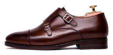 Monkstrap shoes for men, monkstrap shoes in Brown, Brown shoes, comfortable shoes, good quality shoes made in spain, Brown monkstraps for men, chocolat shoes