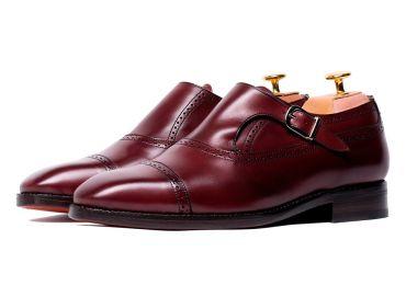 Monkstrap shoes, monkstrap shoes for men, burgundy shoes, shoes with style, elegant shoes, good quality shoes, long lasting shoes, monkstrap shoes in burgundy