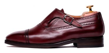 Monkstrap shoes, monkstrap shoes for men, burgundy shoes, shoes with style, elegant shoes, good quality shoes, long lasting shoes, monkstrap shoes in burgundy