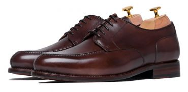 Cognac Norweigan derby shoes for men, brown mens bluchers shoes