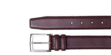 Burgundy Boxcalf Belt