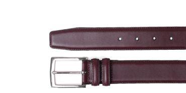 Burgundy Boxcalf Belt
