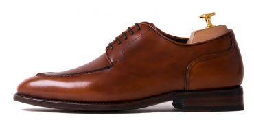 Norweigan derby shoes for men, norweigan mens  blucher in brown