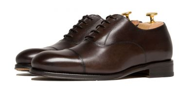 Dark brown shoes for dress, Oxford smooth brown shoes for weddings, comfortable shoes for weddings