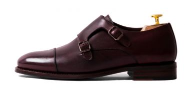 Mens luxury shoes, formal shoes, mens formal shoes, burgundy monkstrap