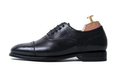 Black full brogue, black dress shoes , black oxfords for men