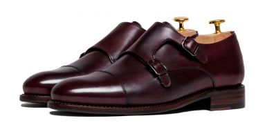 Mens luxury shoes, formal shoes, mens formal shoes, burgundy monkstrap