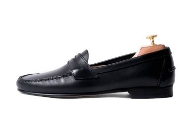 Penny loafer, leather shoes, black shoe, loafer, shoe mask, diamond mask, comfortable shoes, summer shoes