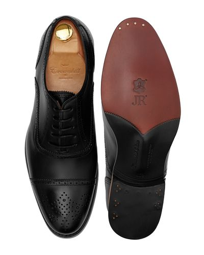Black full brogue, black dress shoes , black oxfords for men