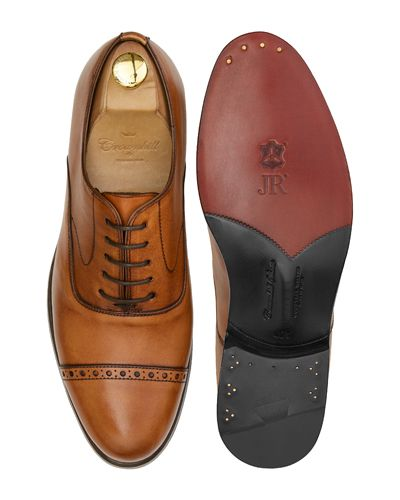 Cognac half brogue oxfords, mens dress shoes