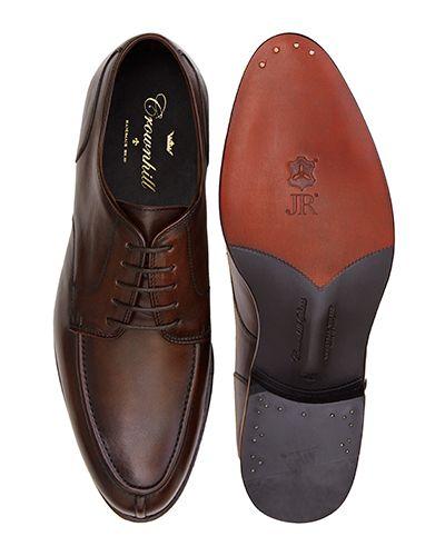 Cognac Norweigan derby shoes for men, brown mens bluchers shoes