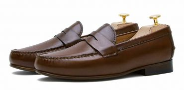 Penny loafer, leather shoes, brown shoe, loafer, shoe mask, diamond mask, comfortable shoes, summer shoes