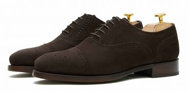 Dark brown suede plain oxford for men, mens oxford, chocolate brown suede shoes form men