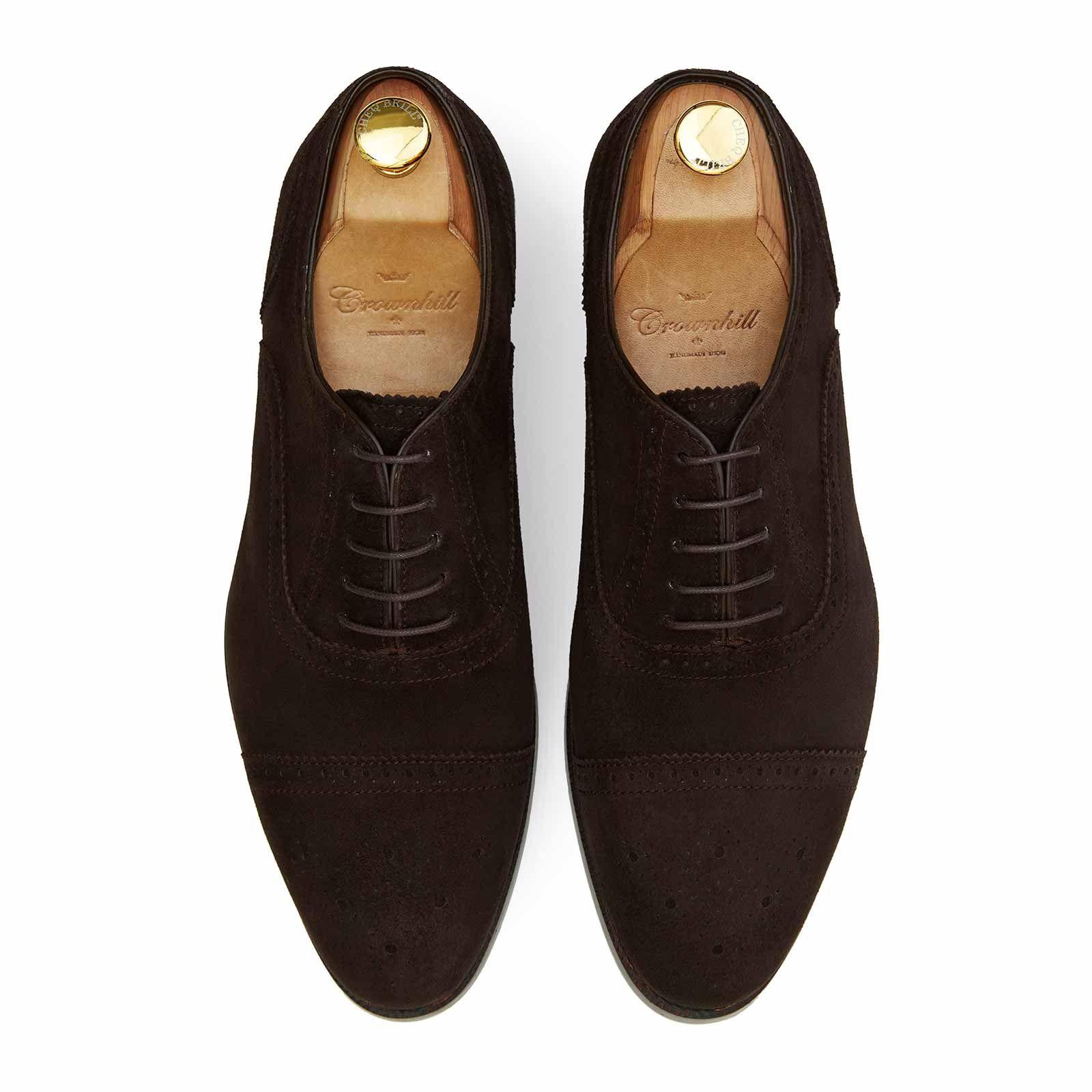 The Delon: Brown Suede Oxford Shoe