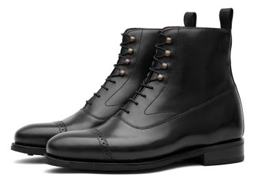 Casual boots, elegant shoes, balmoral boots, black boots for men, classic boots for gents, trendsetter boots, semi casual boots