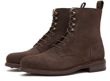 Cap-toe boots, brown balmoral boots, cassual boots