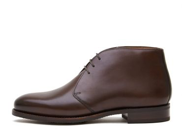 Dark brown leather chukka boots, casual mens boots