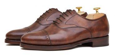 Shoe of a buckle for men, single monkstrap, monk of a dark brown buckle