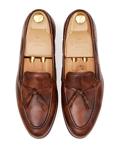 Mens loafer shoes, penny loafers, penny loafer in brown leather