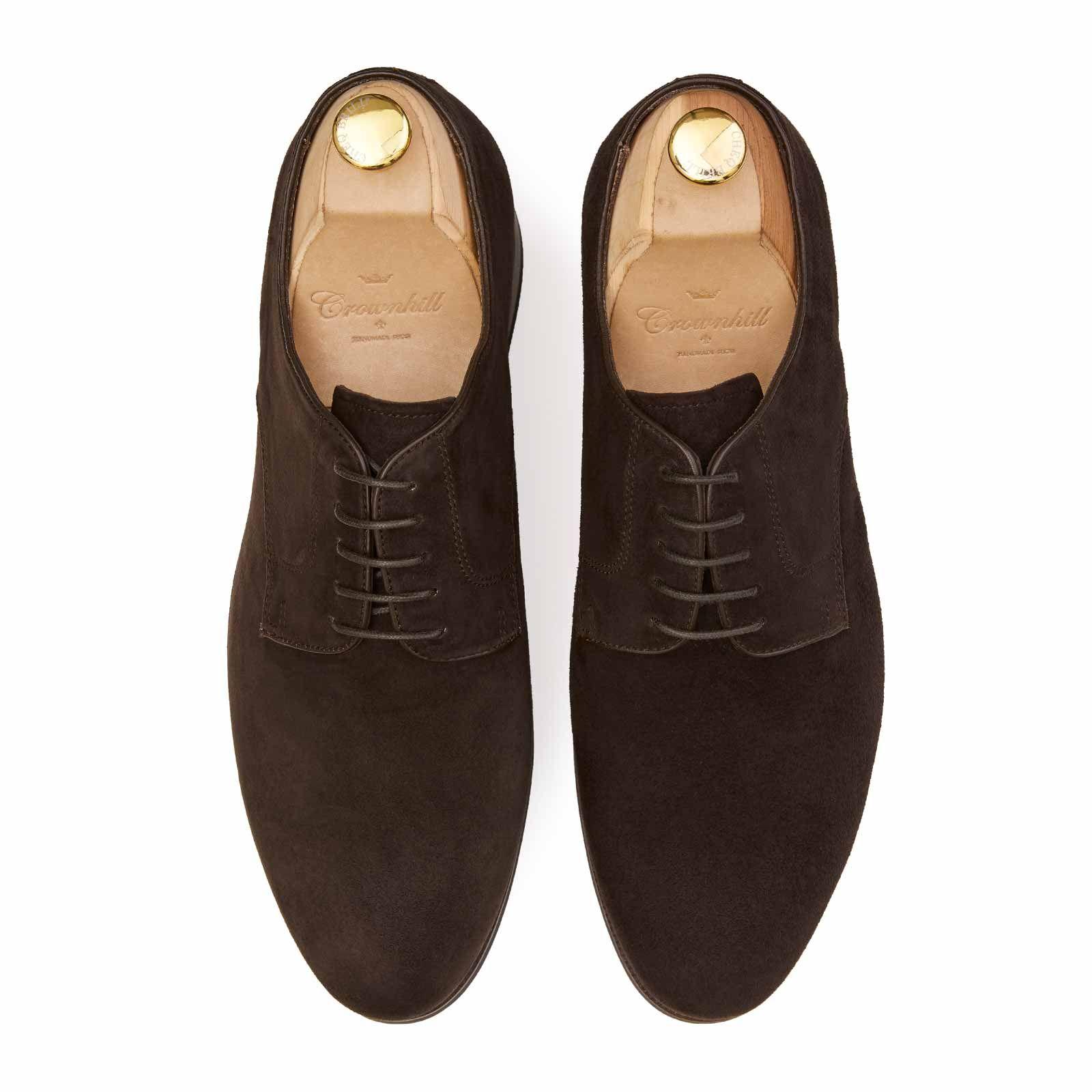 Brown Suede Derby shoe rubber Sole