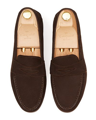 Penny loafer, suede shoes, dark brown shoe, loafer, shoe mask, diamond mask, comfortable shoes