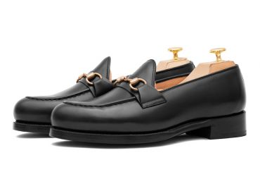 Mens loafer shoes, penny loafers, penny loafer in black leather