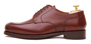 Handmade shoes for men, burgundy leather blucher shoes