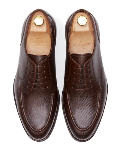 Handmade shoes for men, burgundy leather blucher shoes