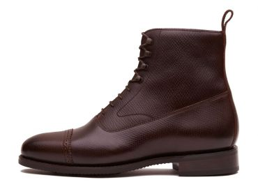 Burgundy balmoral boots for men, mens boots, lace up boots for men