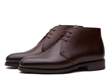 Leather ankle boots, boots made of leather, burgundy leather boots