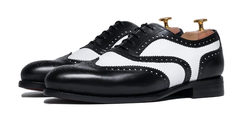 Zapatos negros de otoño vintage para hombre OjI084e