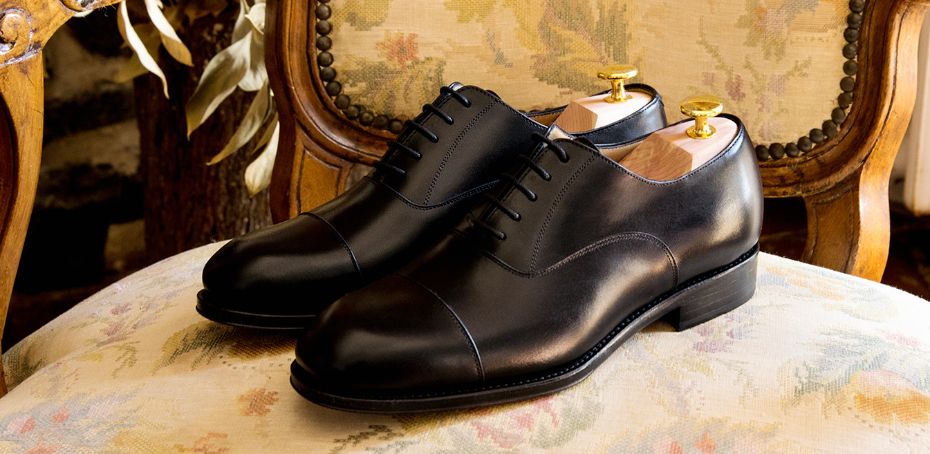 The Chicago: Oxford Black Shoe | Crownhill Shoes